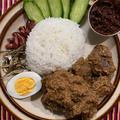 マレーシア、インドネシアの牛肉のココナッツ煮込みルンダンの作り方