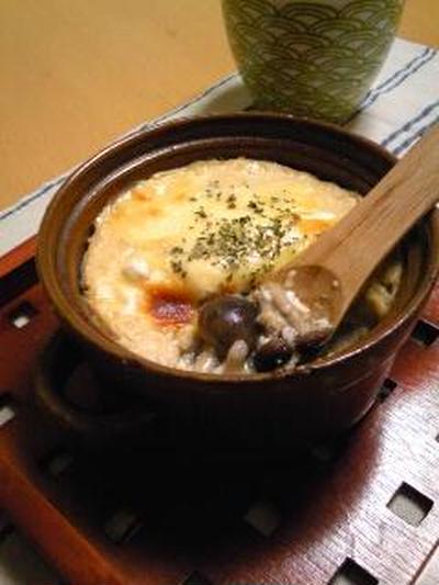 お豆腐ホワイトソース☆きのこグラタン