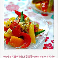 ☆モリモリ食べれる♪夏野菜のツナカレーマリネ☆