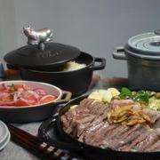 ストウブグリルで「ステーキとグリル野菜」の晩ごはん