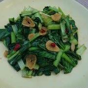 小松菜のアンチョビ炒め