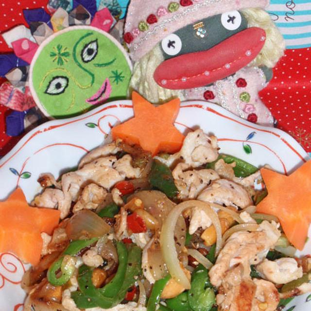 豚肉とピーナッツの辣油炒め&コンニャクの鎮江香酢煮(お家カフェ)