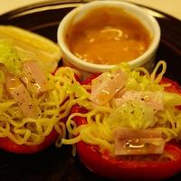 中華三昧の涼麺でサラダカップ