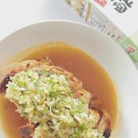 創味だしのきいたまろやかなお酢で鶏肉の照り焼き、油淋鶏ソース風たれ