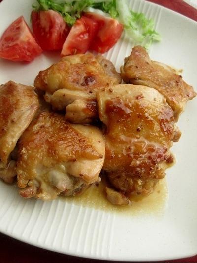 鶏肉ソテーのメイプルマスタードソース