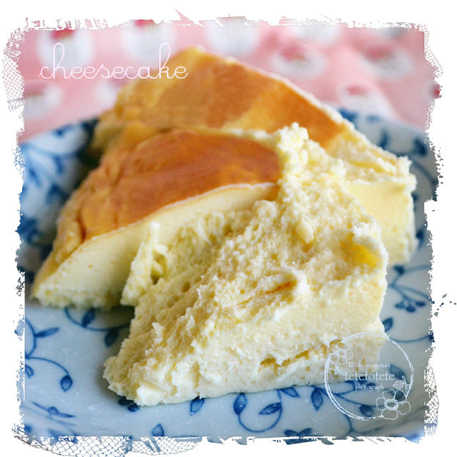 チーズケーキを作ったョ☆