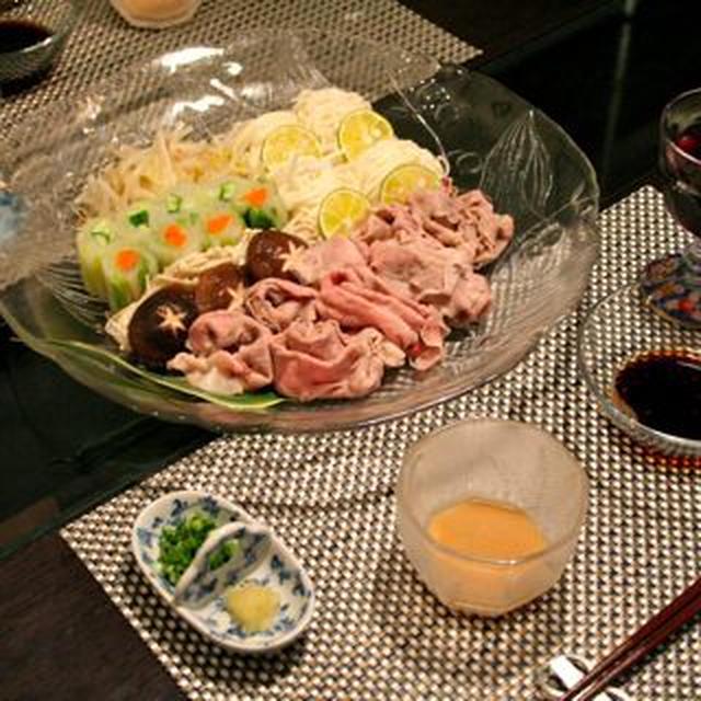 やっぱり和食で...牛肉の冷しゃぶ