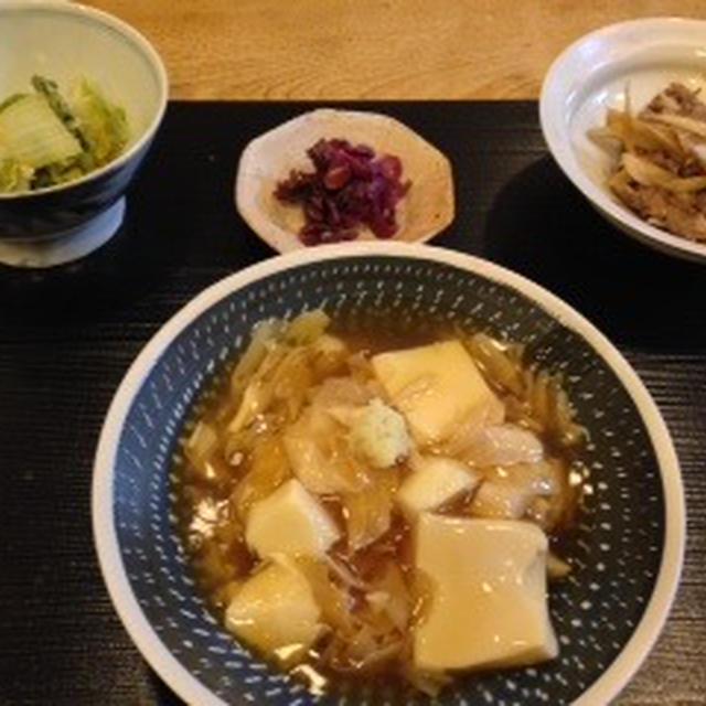 お豆腐湯葉丼