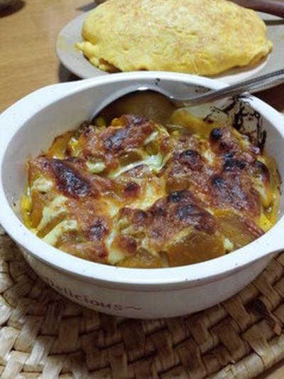 かぼちゃの煮物をリメイク!かぼちゃのマヨチーズ焼き
