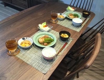 7月1日ブレイザーで鶏もものさっぱり梅煮の晩ごはん