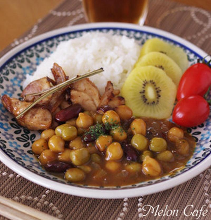 ヘルシーにガッツリ!簡単に作れる「お豆のカレー」レシピ