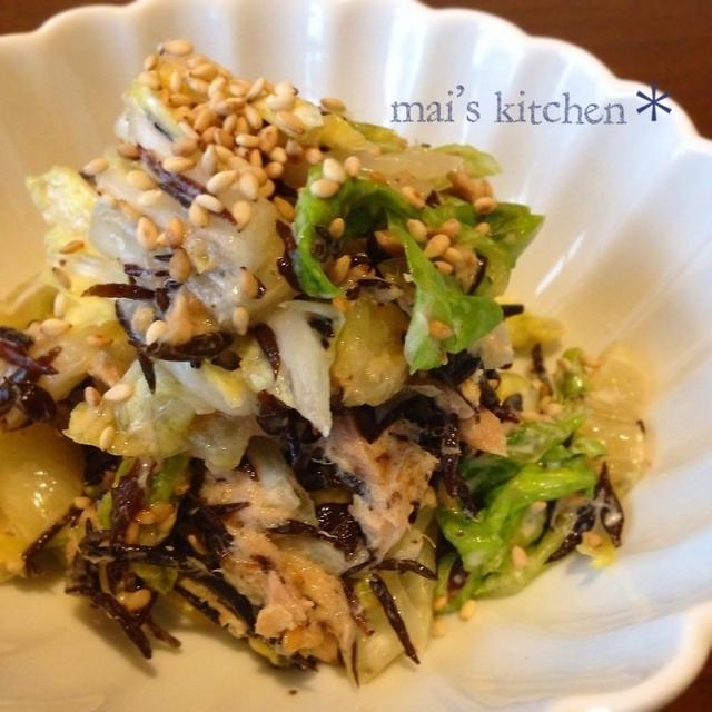 レンジで簡単♡シャキシャキ白菜の食べ応えサラダ♪