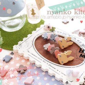 *ハンドメイド*うさぎクッキーのバレッタ♡