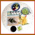 天麩羅蕎麦に鯖寿司
