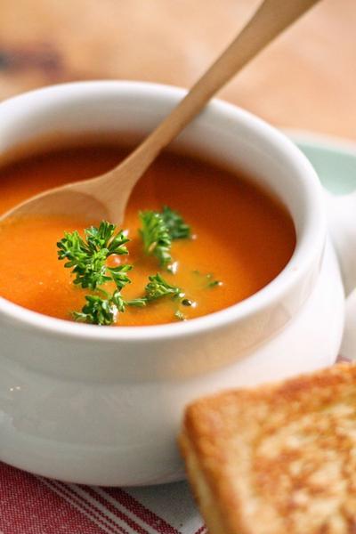 トマトスープとグリルドチーズその①