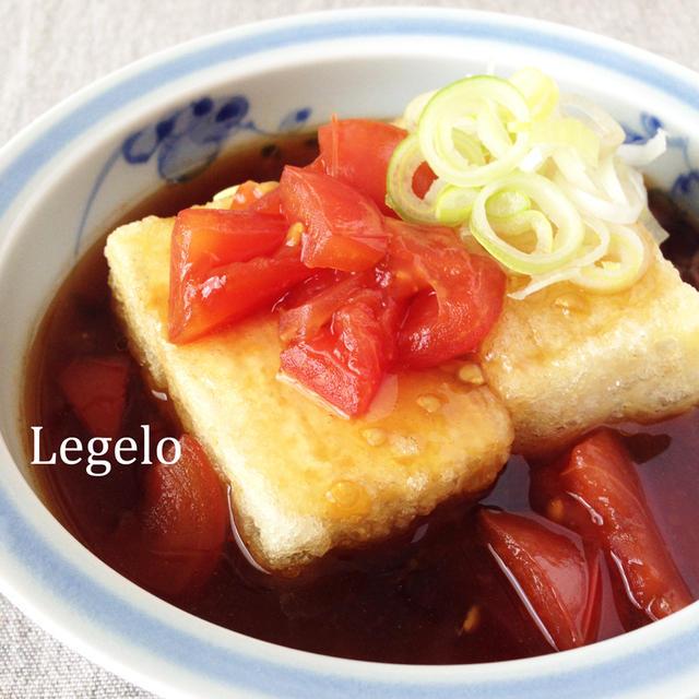 酸っぱ旨いトマトの揚げだし豆腐☆フライパンで♪