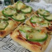 油揚げの野菜ピザ