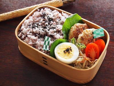 大豆と胡麻の和風ハンバーグ・・お弁当&3時のおやつ♪