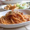 カリッとポテとまスパゲッティ