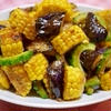 夏野菜のガーリック醤油麹炒め