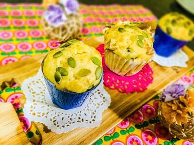 お豆腐キャラメルバナナマフィン【バターなし!】