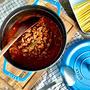 芳醇!コロコロお肉のミートソース作り置き!パスタとオープンサンドアレンジ