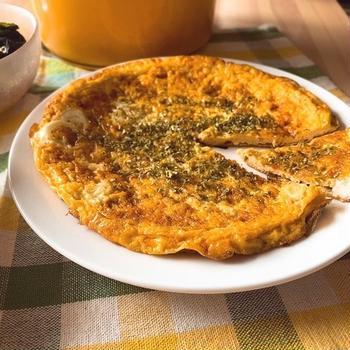 【低脂質&低糖質】味付け2つ&ワンパンで簡単!ふわふわキッシュ風オムレツ