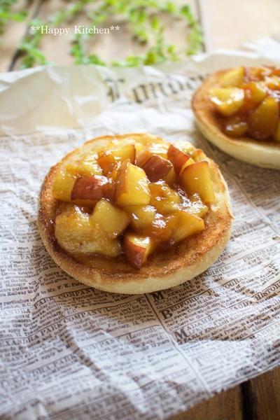 バナナとりんごのキャラメリゼトースト他(お気に入り朝ごはん)*好きなゲームで意気投合