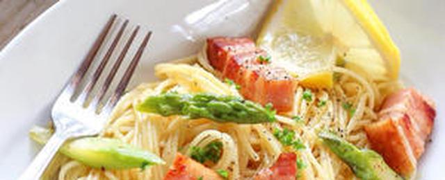 定番の味を集めました!「アスパラベーコン」のスパゲティ