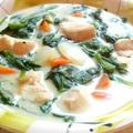 鶏肉とたっぷりほうれん草のクリーム煮☆