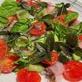 ニベ(白身魚)のお刺身サラダとポワレ