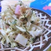 海苔の佃煮で和えるだけ☆ 千切りキャベツの梅海苔サラダ