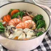 クリンスイ連載【野菜もたっぷり!塩にんにく海鮮鍋】