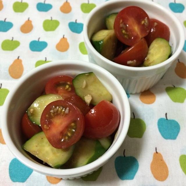 【クイックメニュー】きゅうりとトマトのバルサミコマリネ