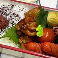 【お弁当】お弁当作り/bento/ソースがうまい!!!コロコロチキン《アラフィフ旦那弁当》