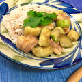 へちまと鶏肉のアジアンプレート by kumyさん