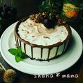 長男お誕生日♪チョコレートマーブルレアチーズムースケーキ♪