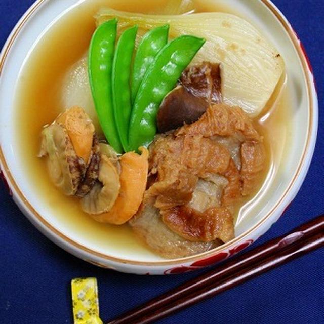 新玉葱と仙台麩の煮物  ・・・おまけの炒め物