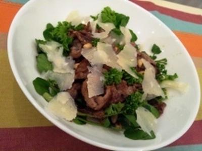 牛肉とクレソンの鉄分サラダ