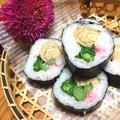 菜の花と甘辛たまごの巻き寿司