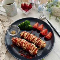朝ごはんにいかが〜ご飯を詰めてホットドック風