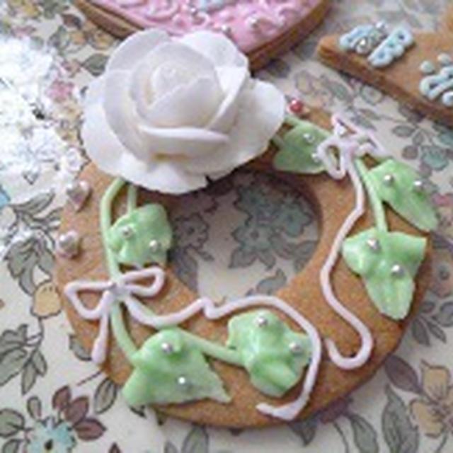 今月のアイシングクッキー ウェディング 飾り巻き寿司レッスン 6月 カエル