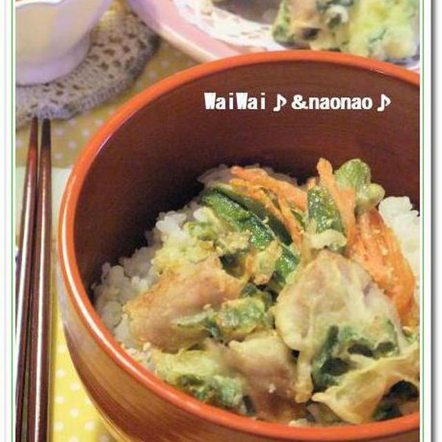 新生姜い~っぱい★マグロのかき揚げ丼♪ モリモリの二種盛り♪♪