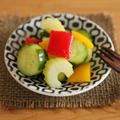 作り置きに♪調味料2つで本格カラフルピクルス*簡単・常備菜*