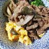 牛肉白醤油すき焼き丼