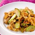 ブロッコリーの芯と油あげのアジアン副菜