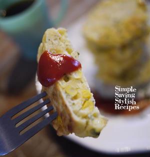 お家でカフェ気分!夏休みの朝ご飯やおやつに♪トウモロコシのパンケーキのレシピ