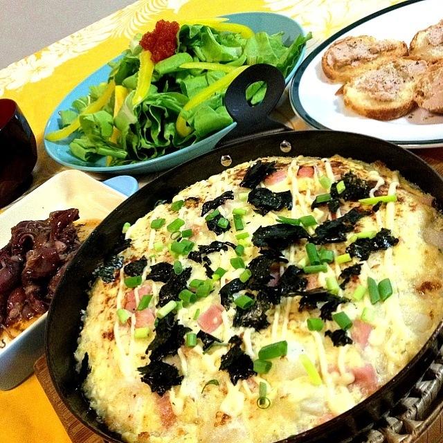 mikisawaみきちゃんの                    長芋と豆腐のグラタン                   ・ホタルイカのコンフィ               ・三元豚のパテ                             ・鎌倉野菜のサラダ  とびっ子のせ