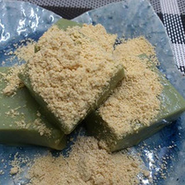 『里の青汁』で、ぷるぷるご豆腐~。