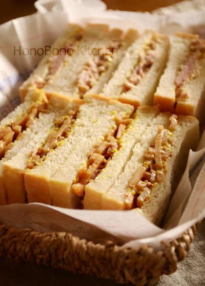 しゃきしゃきれんこんのサンドイッチ